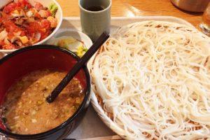 天茶屋七蔵の稲庭うどん 七蔵特製スープつけ麺とミニ丼ぶりのセット