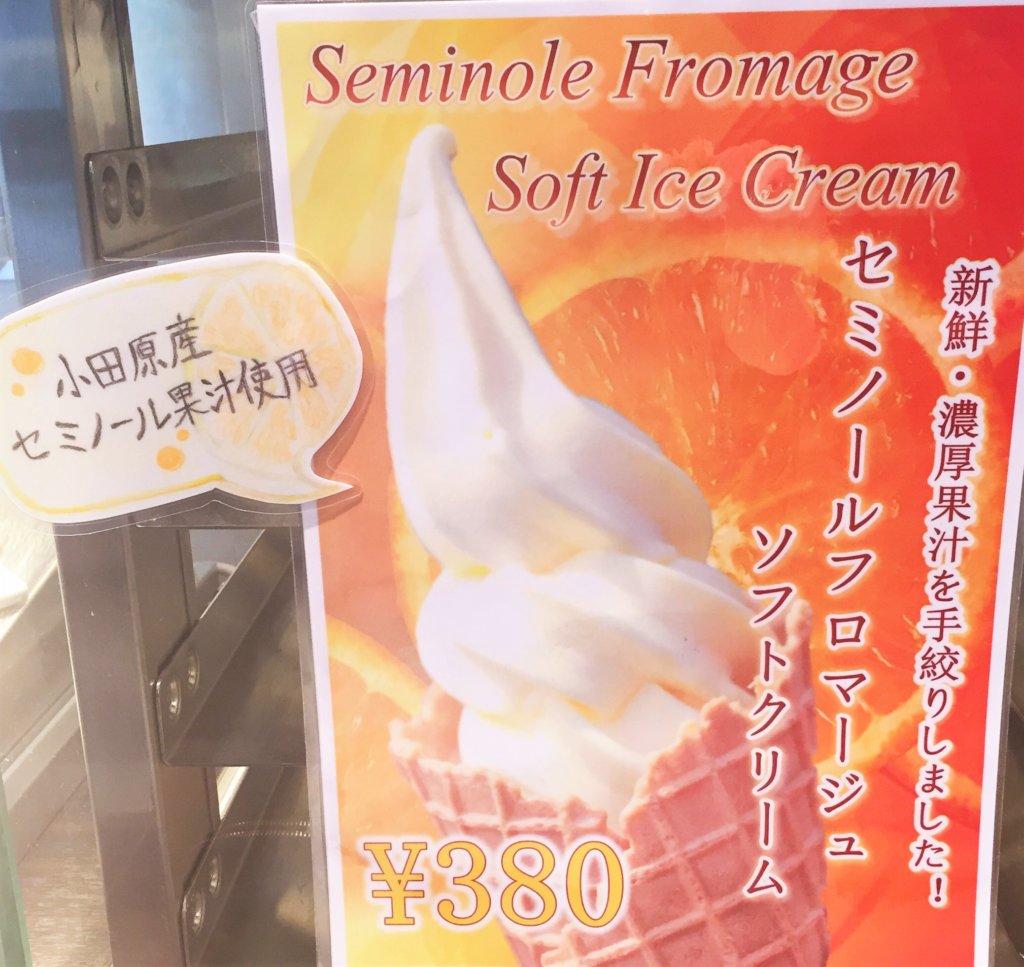 京橋「トシヨロイヅカ」のソフトクリーム「セミノールフロマージュ380円」