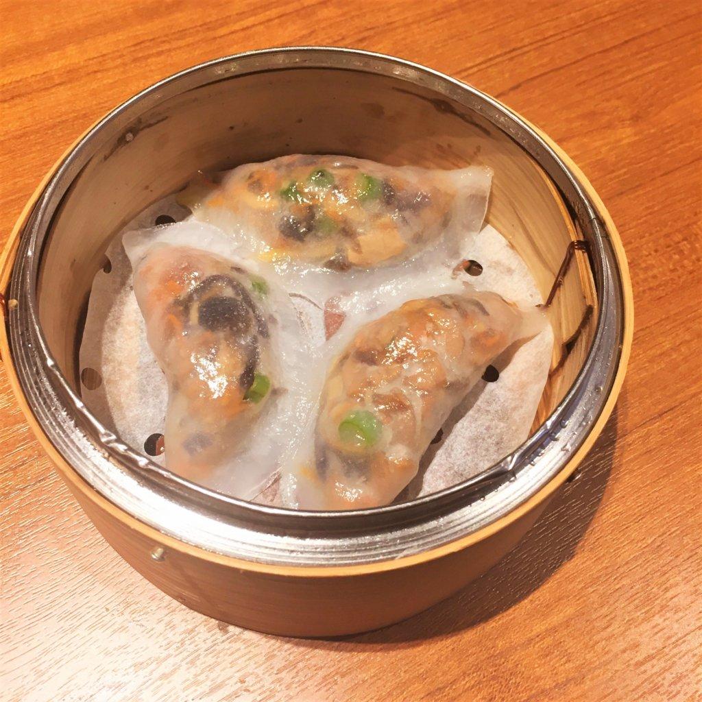 「ティム・ホー・ワン(添好運 / Tim Ho Wan)」の「7種野菜の蒸し餃子(480円)」