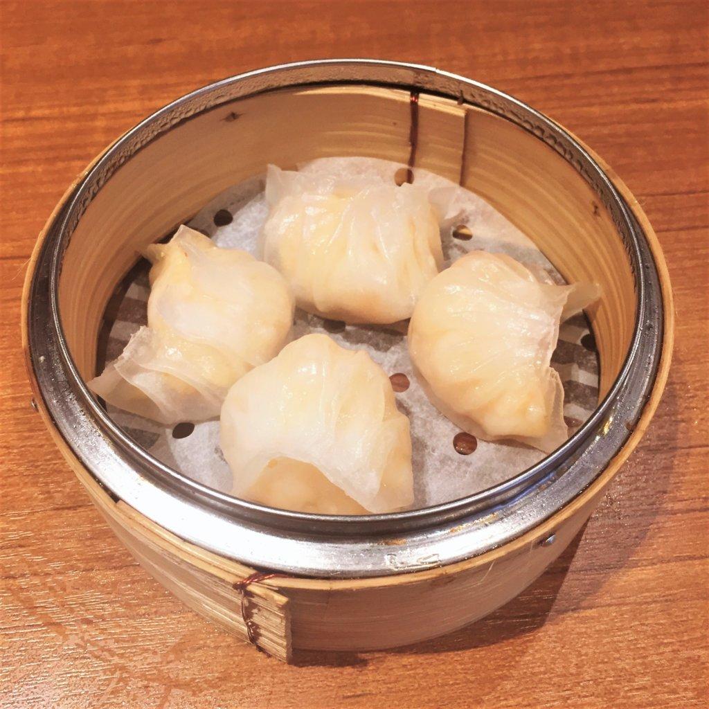 「ティム・ホー・ワン(添好運 / Tim Ho Wan)」の「海老の蒸し餃子 (ハーガウ)(580円)」