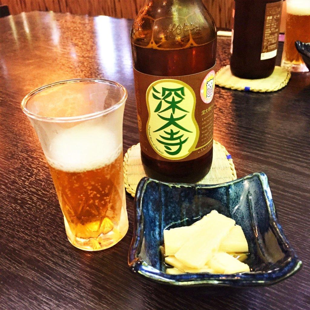 深大寺のお蕎麦屋さん「深大寺そば きよし」の「深大寺ビール560円」