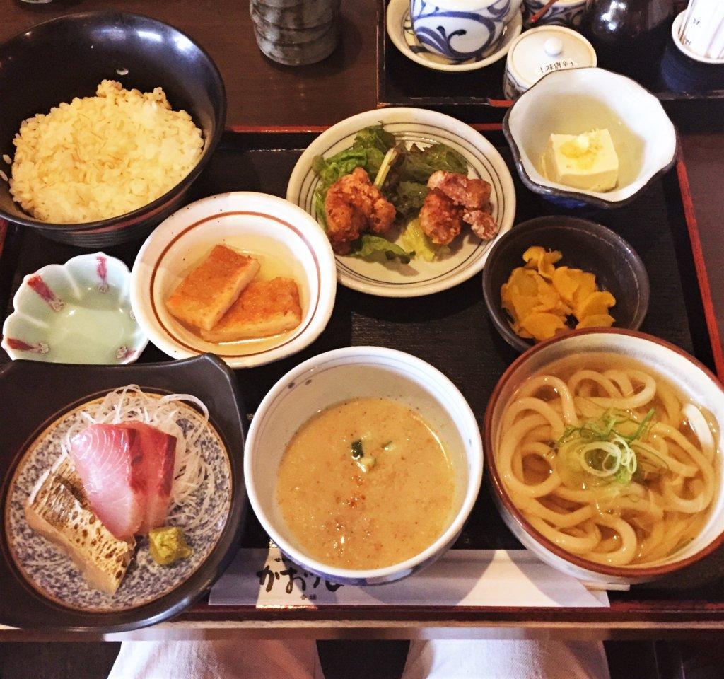 新橋「かおりひめ」の「伊予定食(1,240円)」
