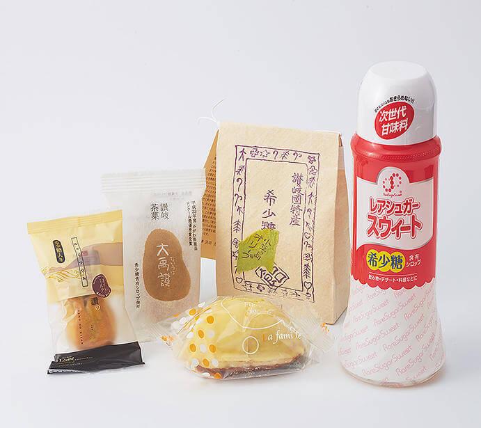 新橋の「せとうち旬彩館」で販売している香川県の希少糖関連商品。出典:せとうち旬彩館公式サイトより