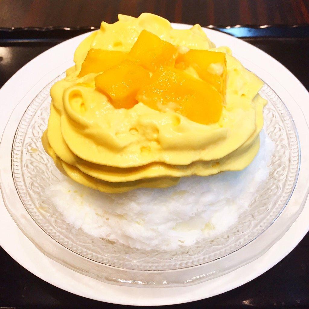 「トシヨロイヅカ東京」の夏季限定「マンゴーエスプーマかき氷(950円)」