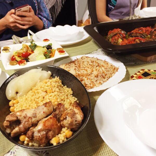Tadaku(タダク)のEtimal先生のシリア料理教室にて♪1人で参加しやすい雰囲気です☆