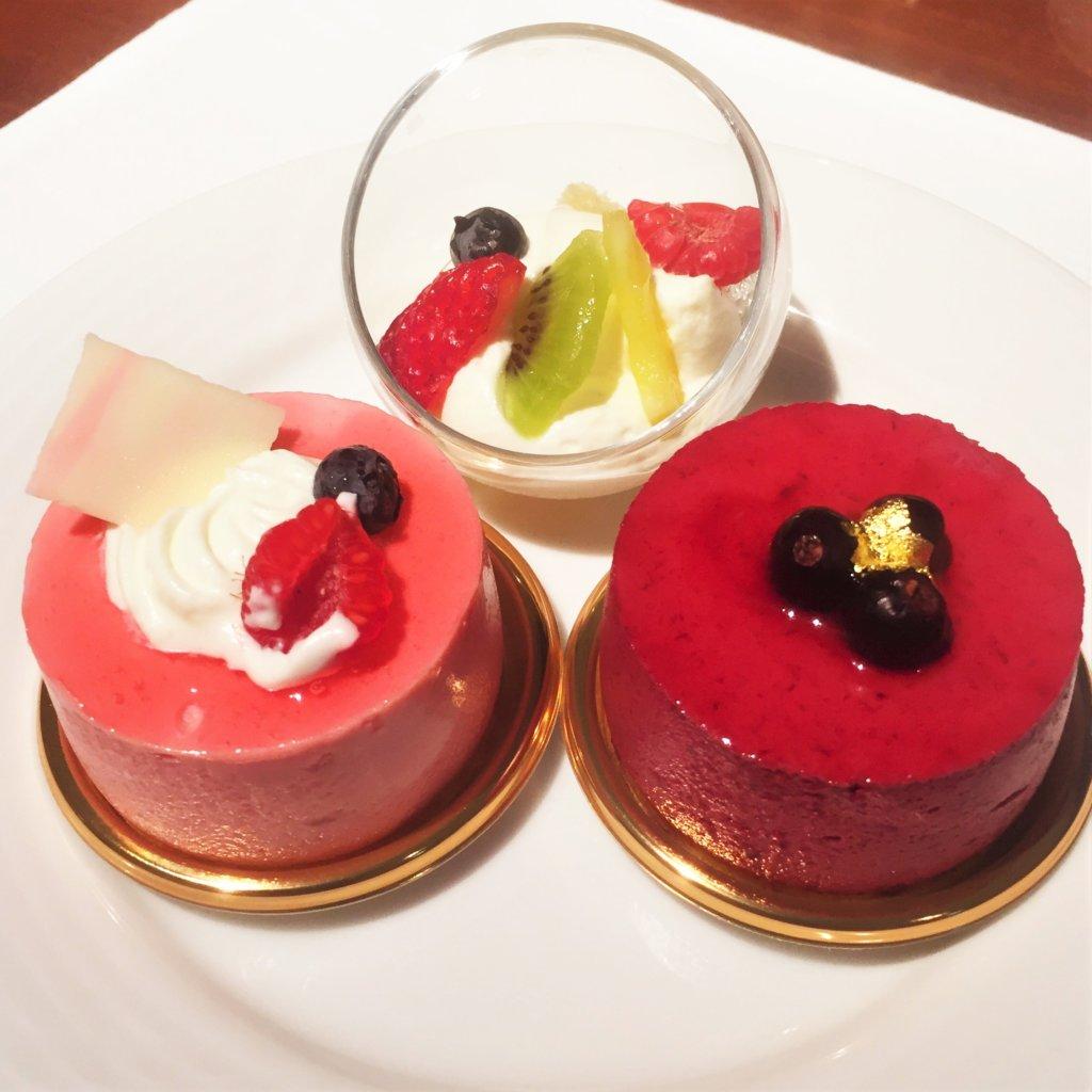 ートヤード・マリオット銀座東武ホテル「フィオーレ」のNYグリル&ブッフェのディナータイムのデザート