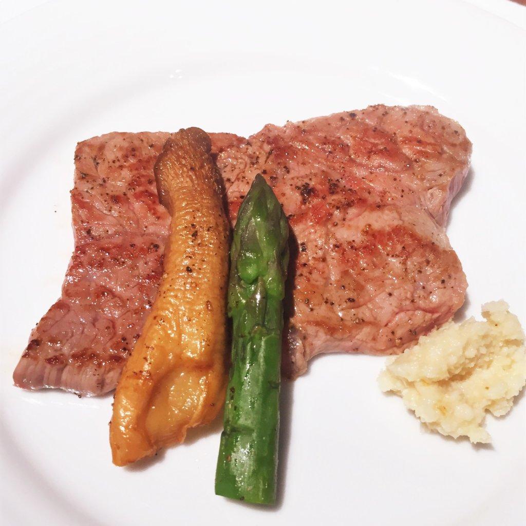 コートヤード・マリオット銀座東武ホテル「フィオーレ」のNYグリル&ブッフェのディナータイムのビーフステーキハーフサイズ