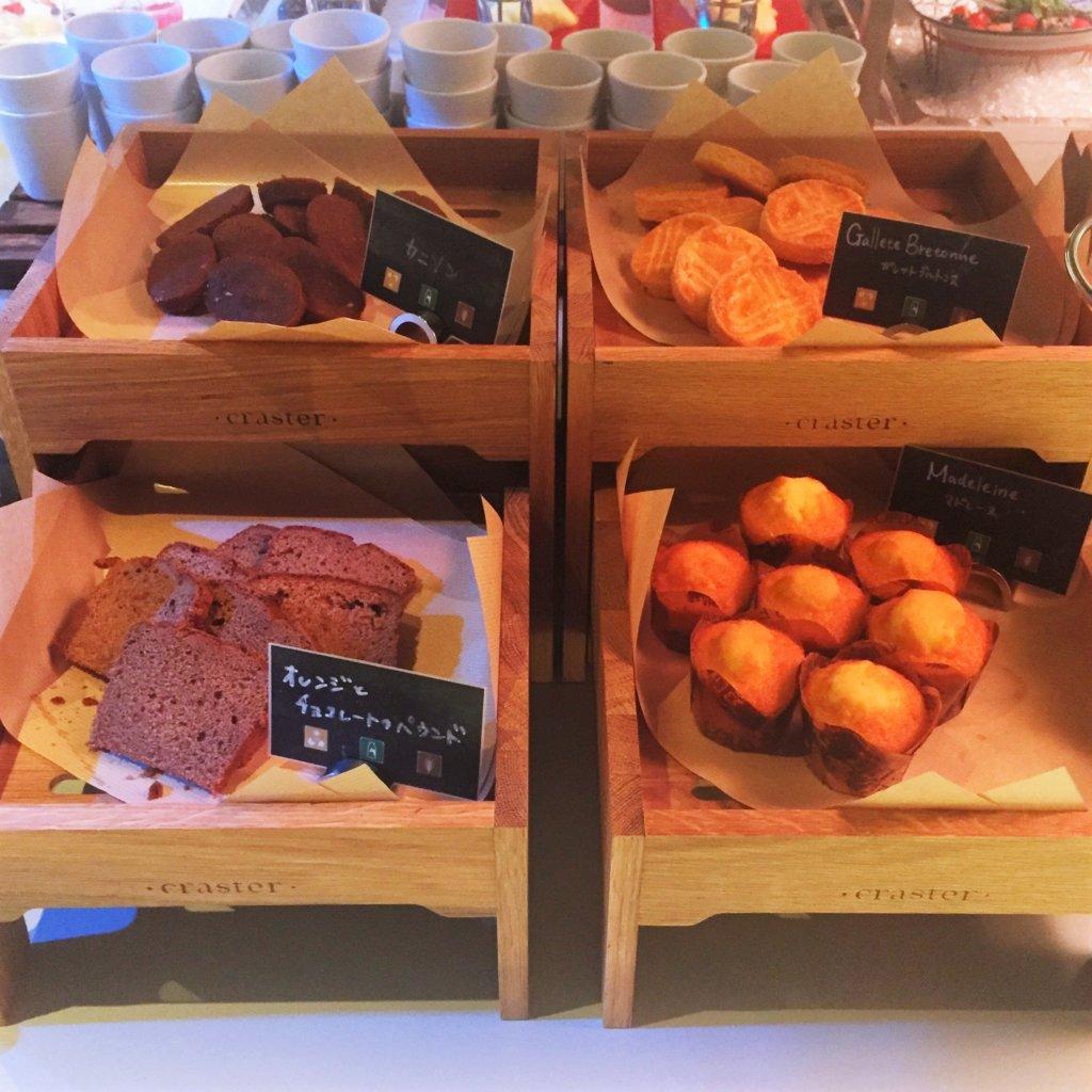 コートヤード・マリオット銀座東武ホテル「フィオーレ」のNYグリル&ブッフェのディナータイムの焼き菓子