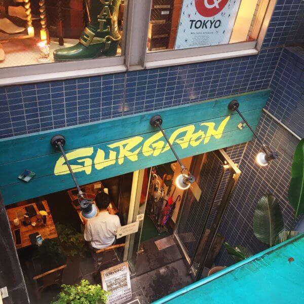 銀座北インド料理専門店「グルガオン」1階から見た地下の入り口の様子