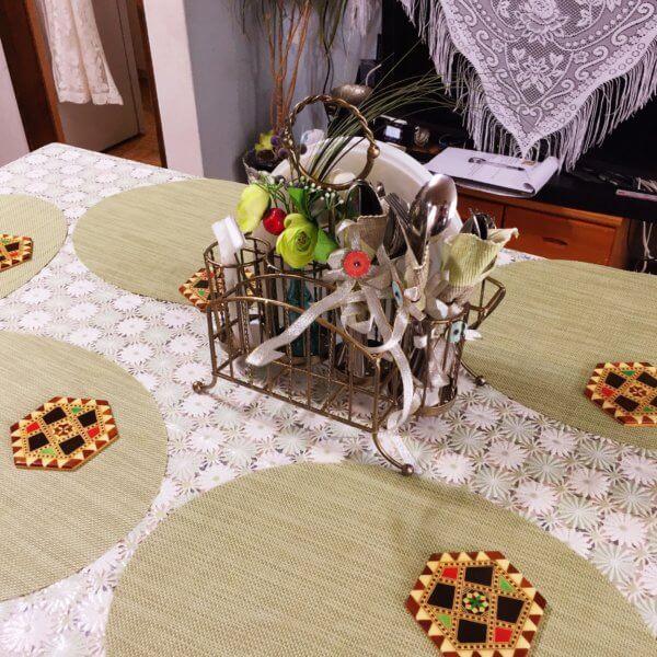 Tadaku(タダク)のシリア料理教室にて♪Etimal先生はテーブルセッティングもお上手☆